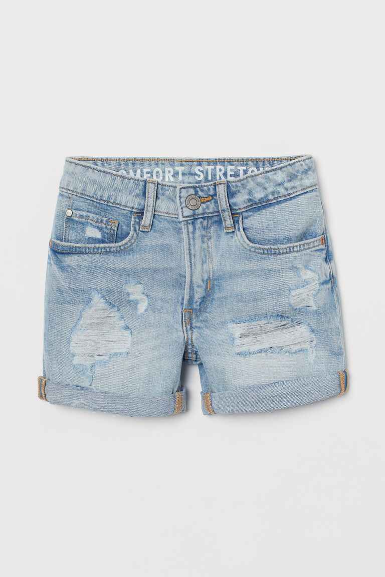 Denim Elasticated Stretchy Waist Shorts Cotton ages 10-11 11-12 years Easy dress