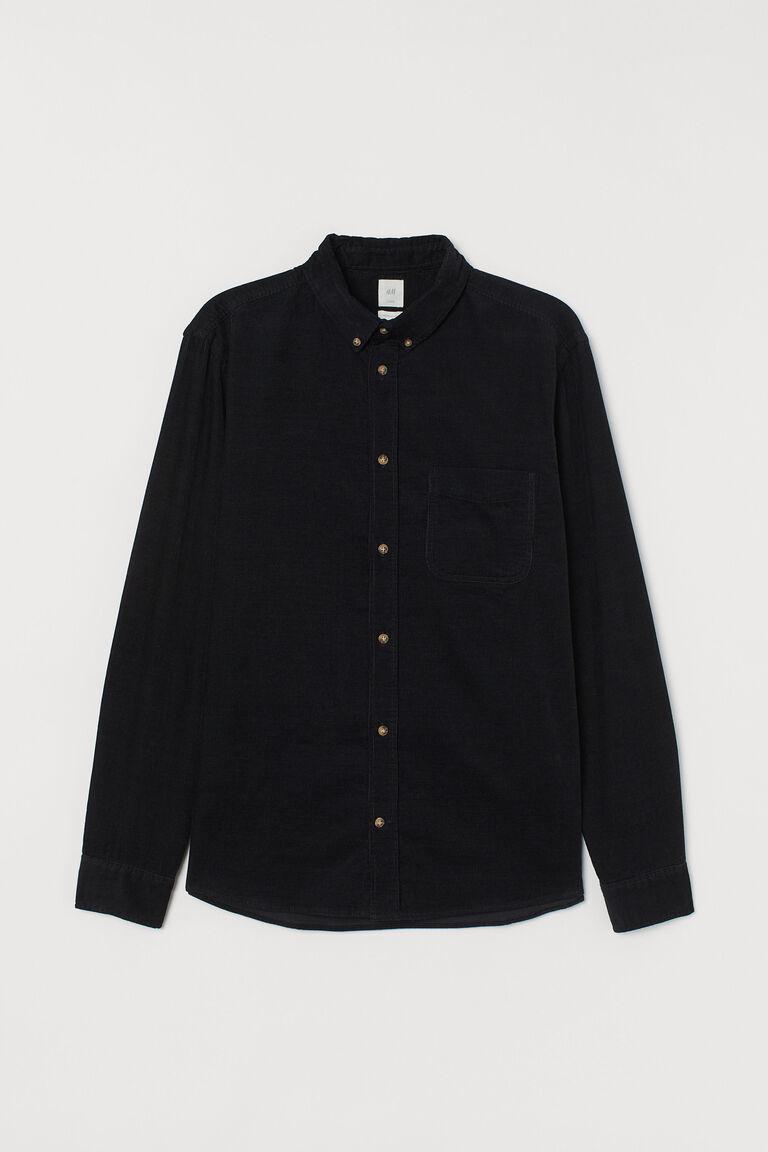 FRPE Men Stylish Regular Fit Corduroy Long Sleeve Work Jacket Coat